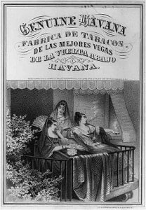 Advertisement for cigars from Havana. Lithograph, 1868